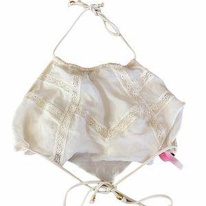 Victoria secret white lace high neck bathing suit